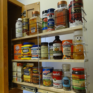 Vertical Spice shelf